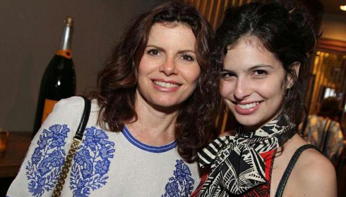 Débora Block e filha Júlia