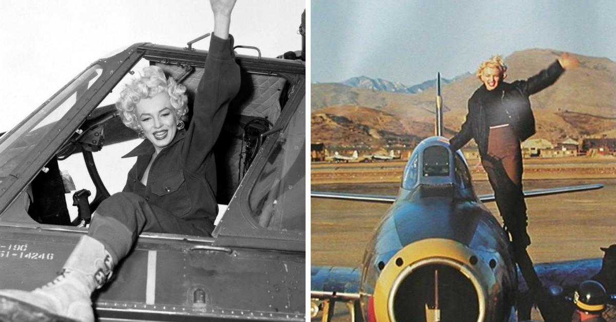 Marilyn Monroe avião