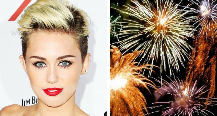Miley Cyrus fogos de artifício