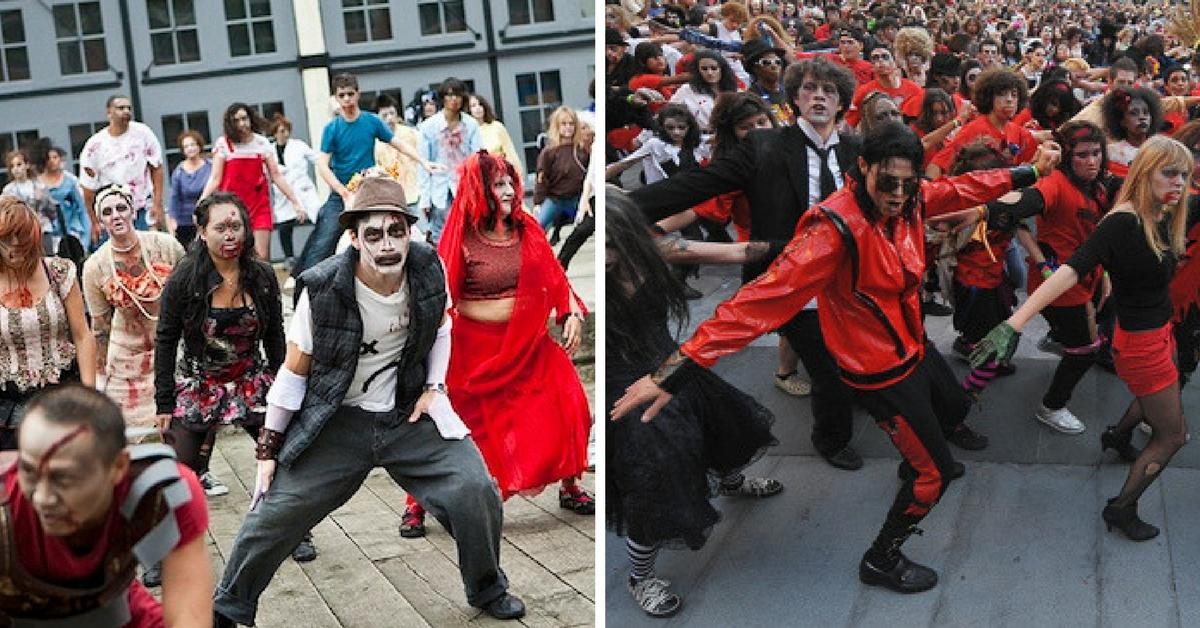 michael jackson flash mob