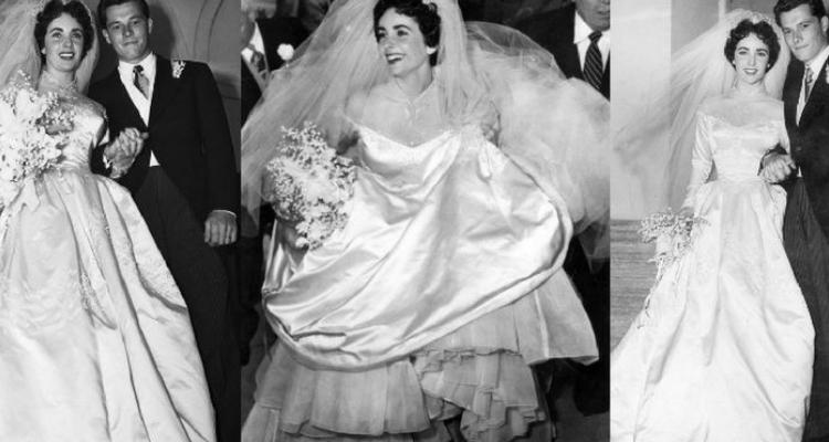 Vestido de casamento de Elizabeth Taylor