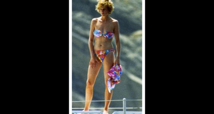 Princesa Diana de biquini