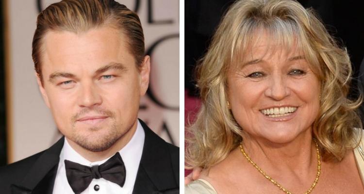Leonardo DiCaprio e sua mãe
