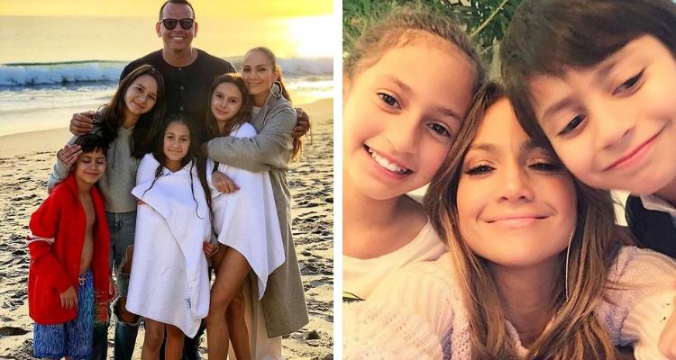 Jennifer Lopez com os filhos