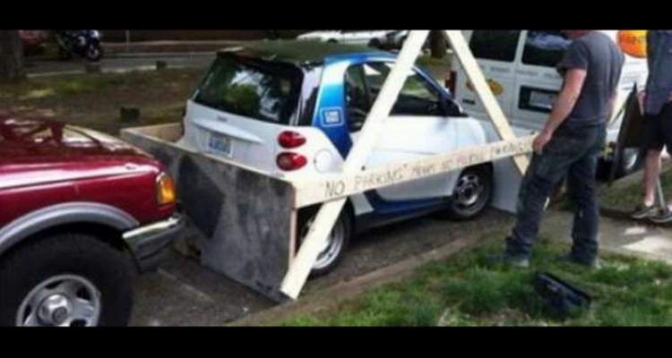 Smart mal estacionado