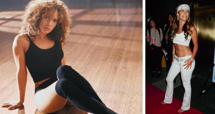 Jennifer Lopez antes e depois