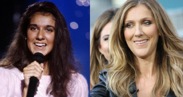 Celine Dion antes e depois