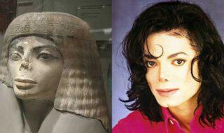 michael jackson e estátua egípsia