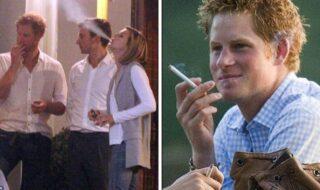 Príncipe Harry fumando