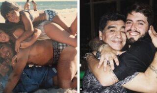 Maradona e filhos